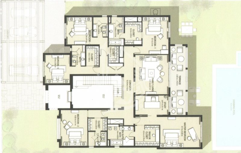 Modern Arabic Style Villa in District One MBR City - Image 1
