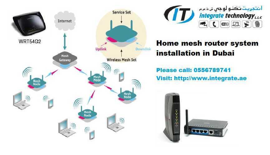 internet router modem techncain wifi setup dubai home office IT