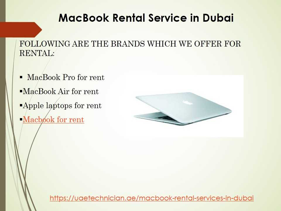Best MacBook Rental Service in Dubai at Economical Price by