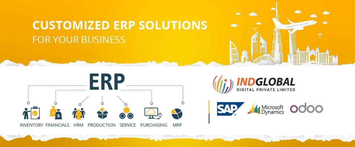 ERP Software Development Company in Dubai   Indglobal