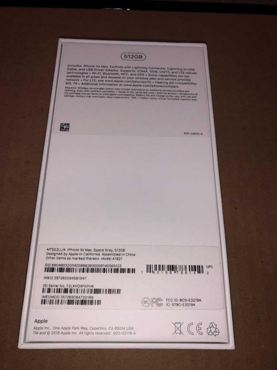 Apple iPhone XS Max box