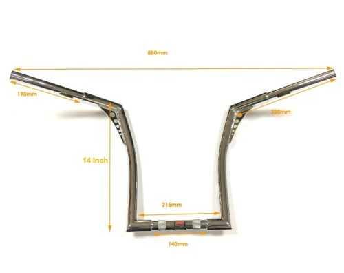 14 Inch Ape Hanger 1.25 Inch Handlebar For Harley from SMA 1.jpg