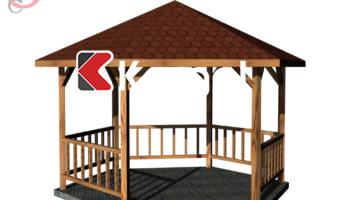 3D realistic model wooden Gazebo in garde 1.png