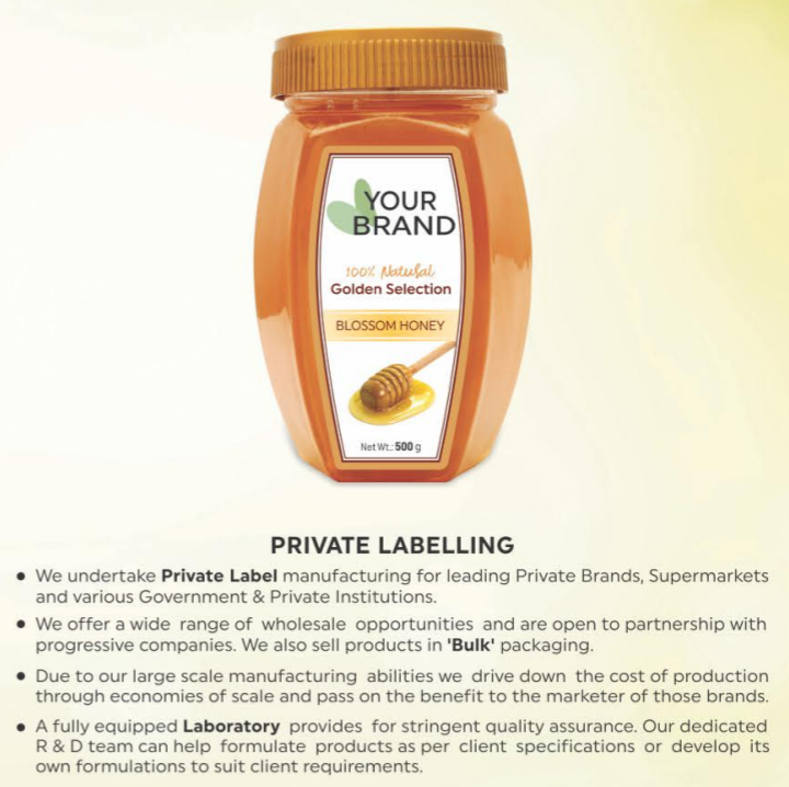 Private Labeling available for Worldwide Importers
