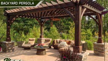 HDPE Roof Wooden Pergola , Cafeteria Pergola , Wooden Pergola  (4).jpg
