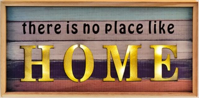 8 There is no place like home WOODEN FRAME.JPG