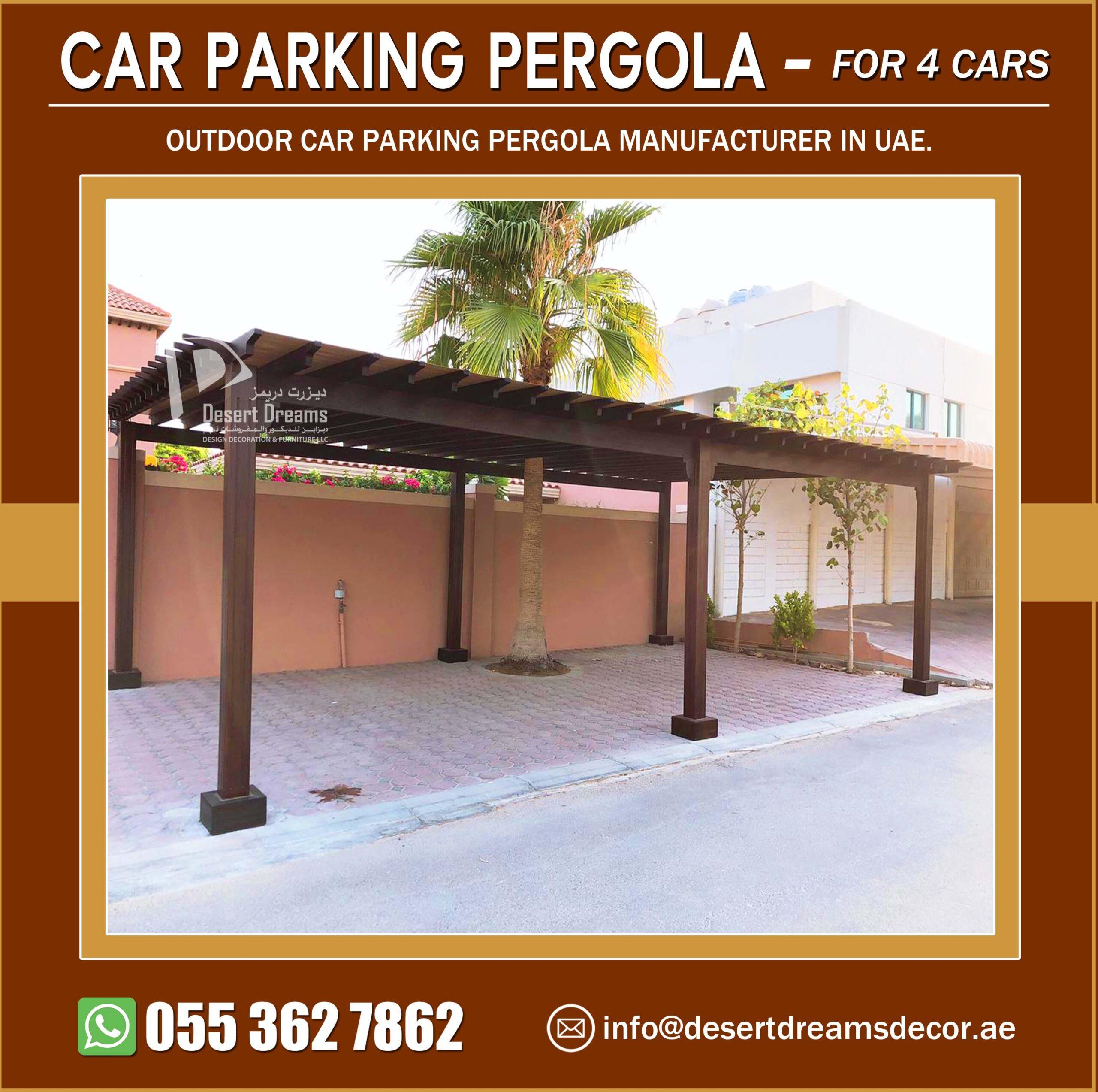 Four Cars Parking Pergola Manufacturer in UAE.jpg