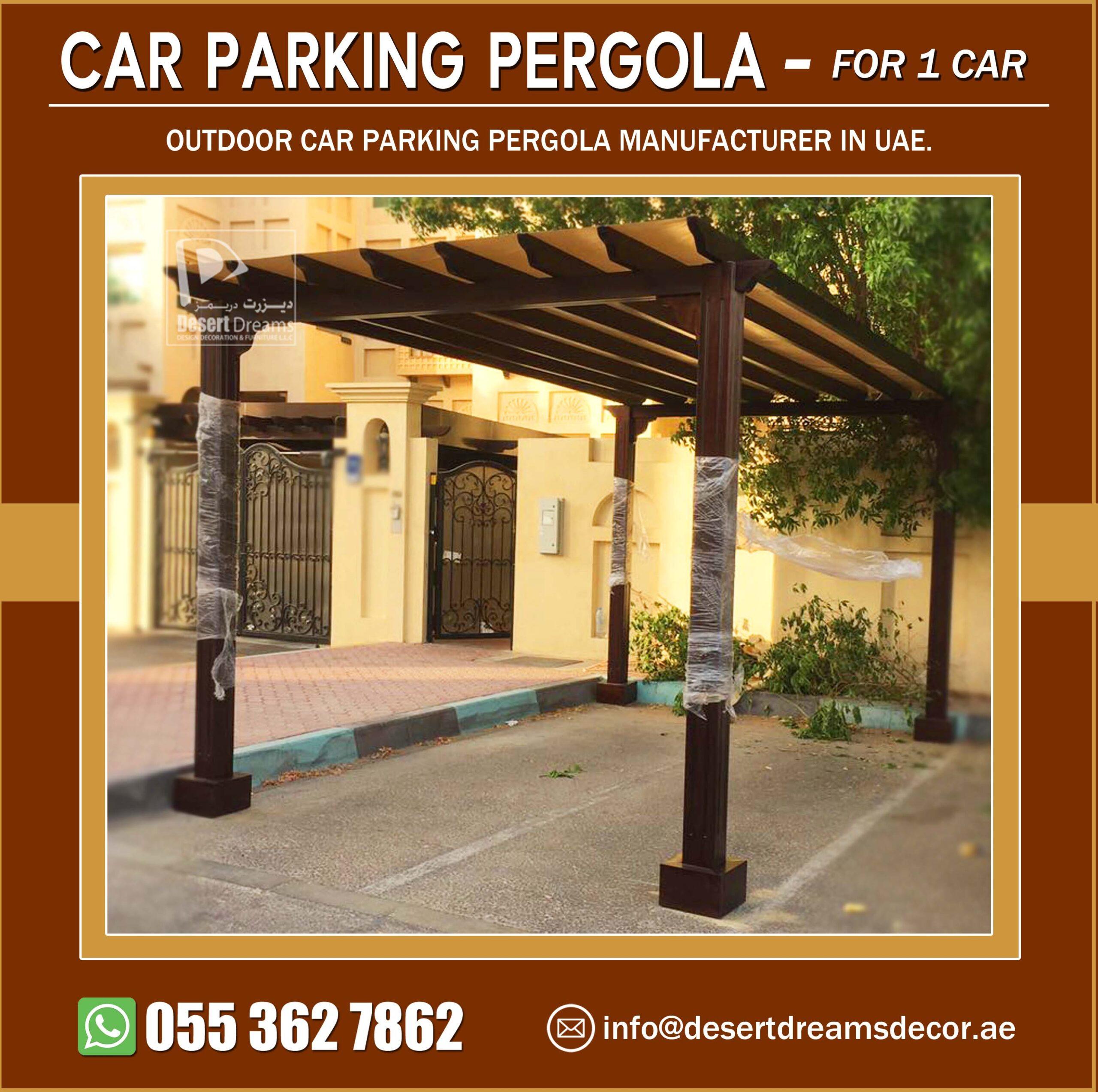 One Car Parking Pergola Manufacturer in UAE.jpg