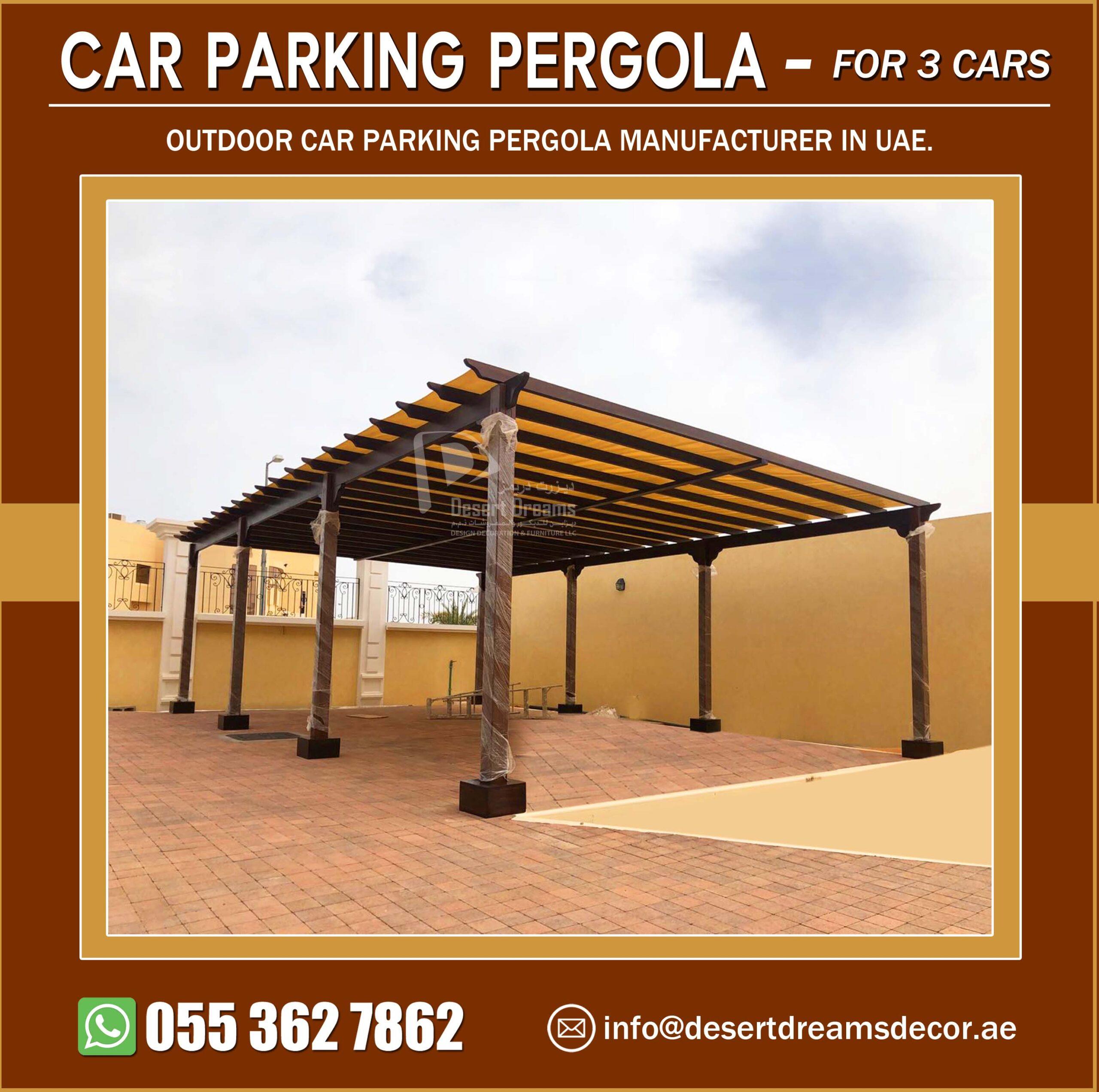 Three Cars Parking Pergola Manufacturer in UAE.jpg