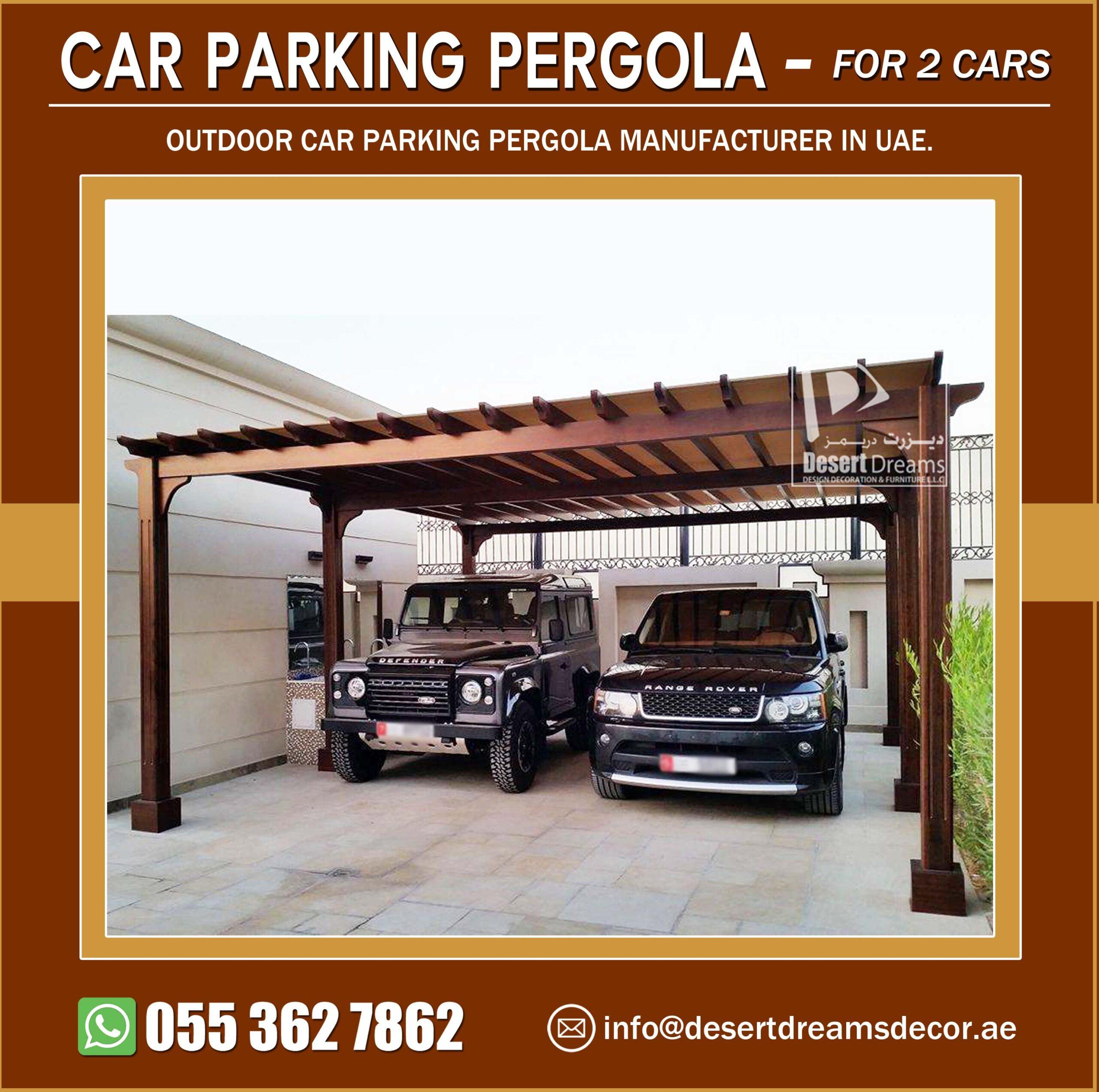 Two Cars Parking Pergola Manufacturer in UAE.jpg