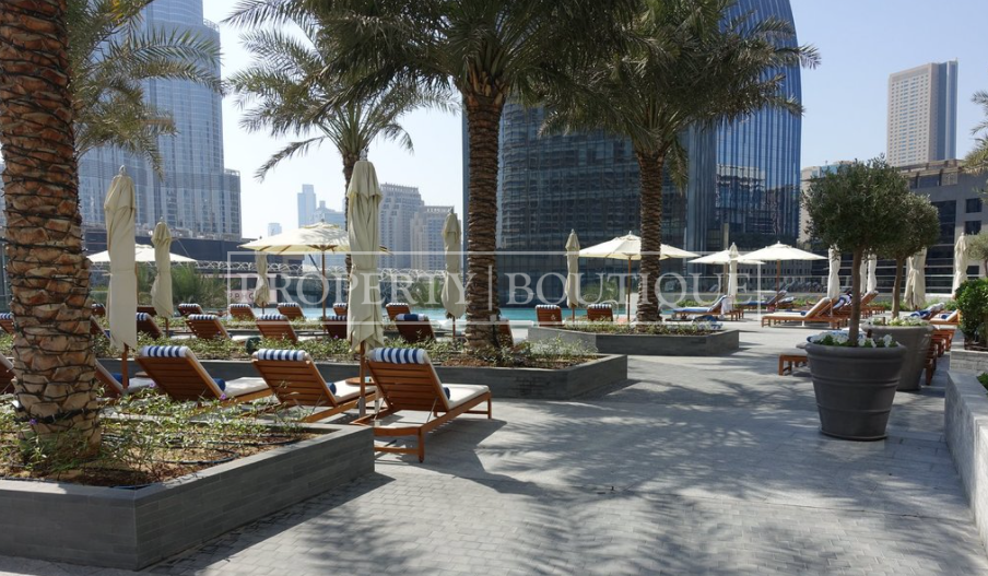 Mid Floor | Burj and Partial Fountain view - Image 17