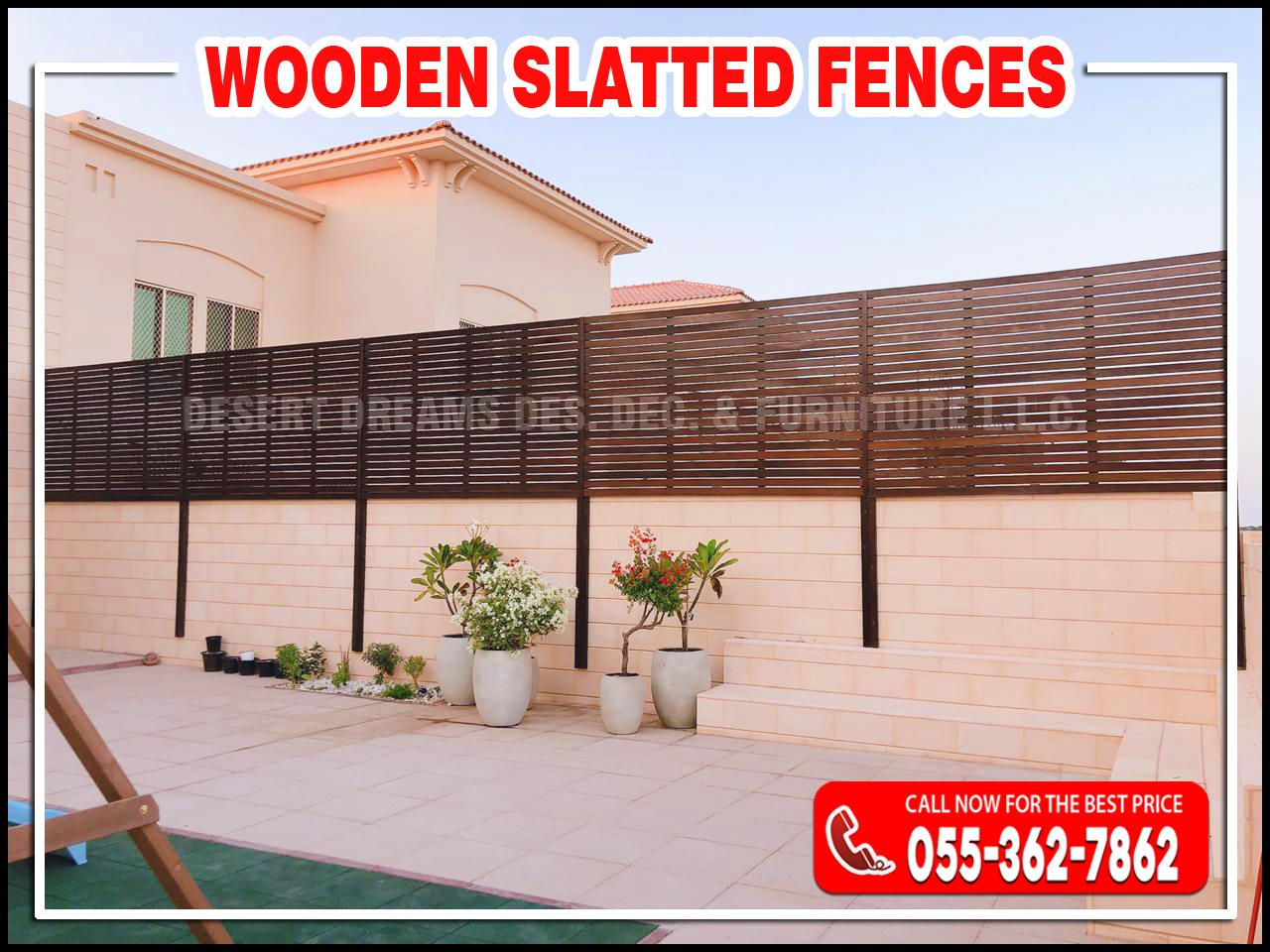 Wooden Privacy Slatted Fences in Abu Dhabi, UAE.jpg