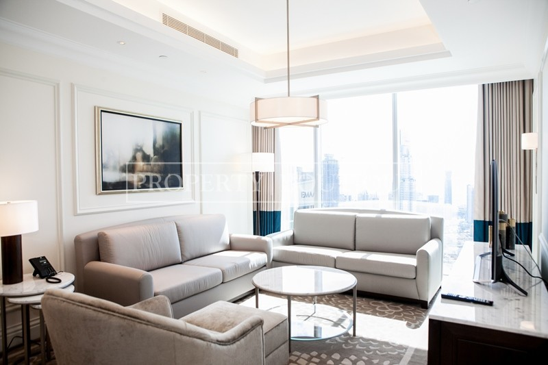 Mid Floor | Burj and Partial Fountain view - Image 2