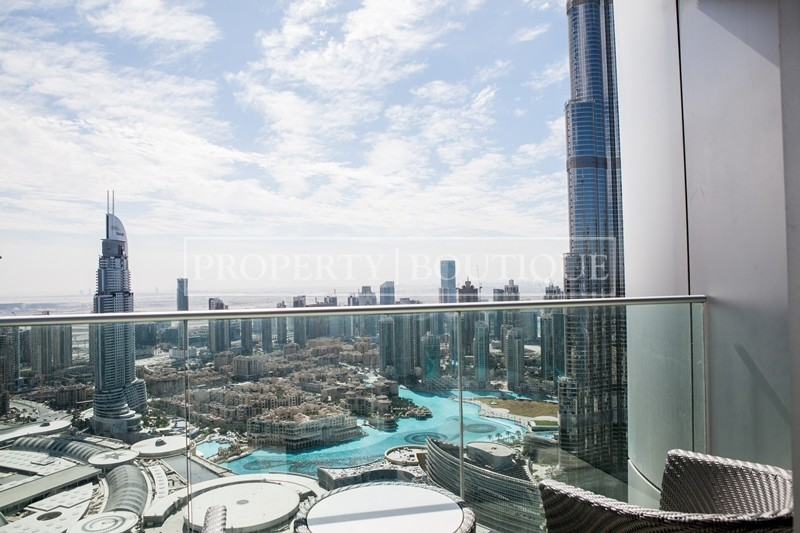 Mid Floor | Burj and Partial Fountain view - Image 10