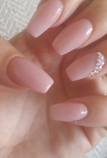 Acrylic Extensions French Nails in Dubai - Image 2