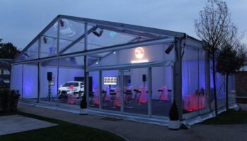 Transparent tent rental