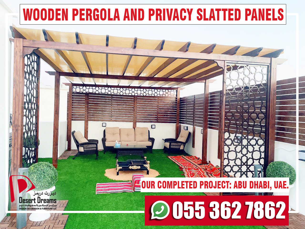 Wooden Pergola and Privacy Slatted Fences in UAE-4.jpg