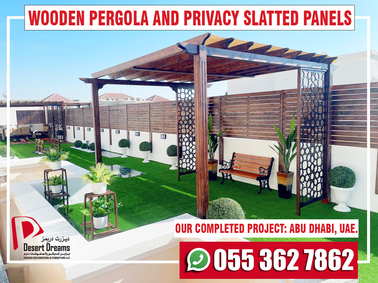 Wooden Pergola and Privacy Slatted Fences in UAE.jpg