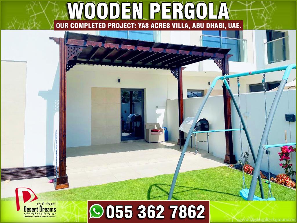 Wooden Pergola in Yas Acres Villa Abu Dhabi, UAE-1.jpg