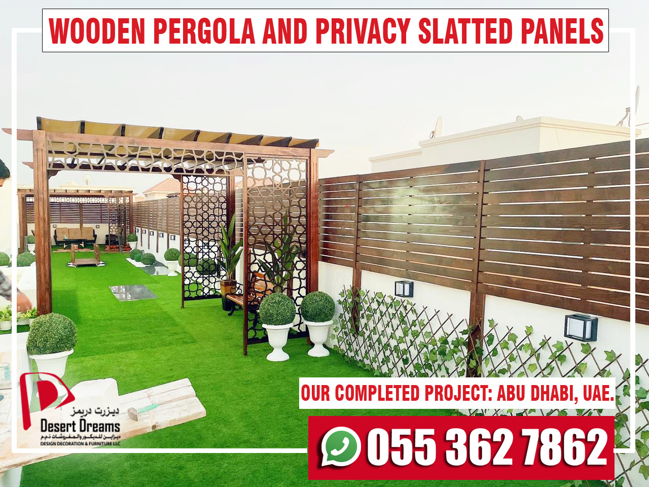 Wooden Pergola and Privacy Slatted Fences in UAE-3.jpg