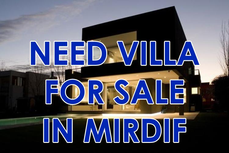 villa wanted